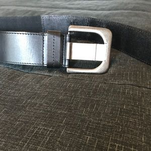 Accessories - Wide black leather belt